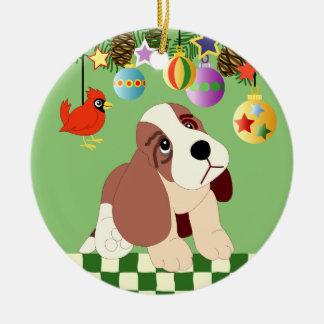 Ornamento del navidad del perrito adorno de navidad