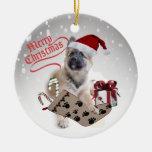 Ornamento del navidad del perrito del pastor alemá adornos