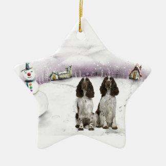 Ornamento del navidad del perro de aguas de ornamento de reyes magos