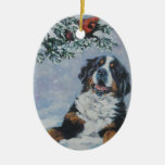 ornamento del navidad del perro de montaña bernese ornamento para arbol de navidad