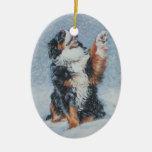 Ornamento del navidad del perro de montaña de Bern Adorno