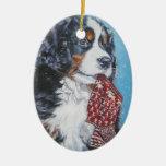 Ornamento del navidad del perro de montaña de Bern Adorno Para Reyes