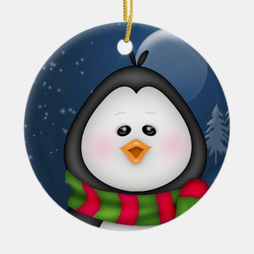 Ornamento del navidad del pingüino ornamento de navidad