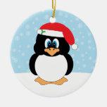 Ornamento del navidad del pingüino ornamentos para reyes magos