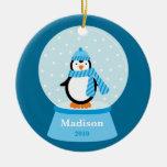 Ornamento del navidad del pingüino ornamente de reyes