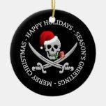 Ornamento del navidad del pirata - personalizable adornos