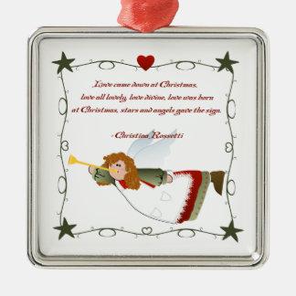 Ornamento del navidad del poema del ángel ornamente de reyes