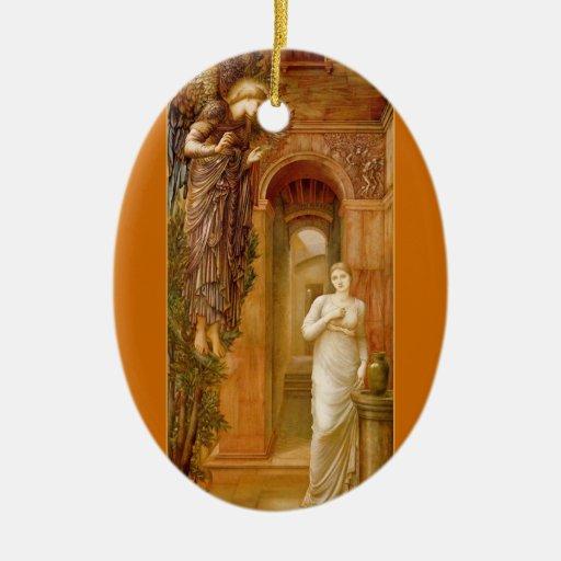 Ornamento del navidad del Pre-Raphaelite del anunc Adorno