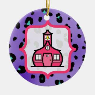 Ornamento del navidad del profesor - leopardo adornos