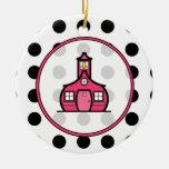 Ornamento del navidad del profesor - lunar y rosa ornamentos de reyes