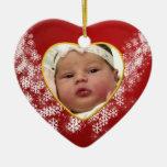 Ornamento del navidad del recuerdo de la foto del adornos