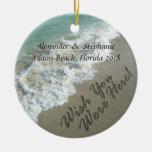 Ornamento del navidad del recuerdo de la playa de  ornamento para arbol de navidad