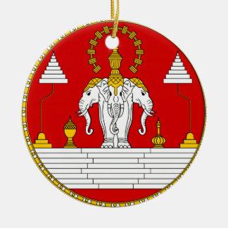 Ornamento del navidad del reino de Laos* Adorno Navideño Redondo De Cerámica