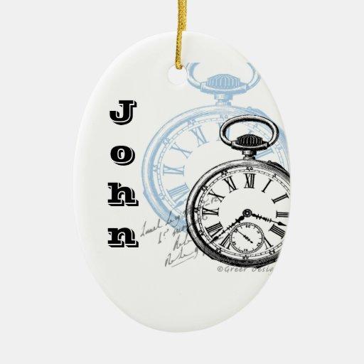Ornamento del navidad del reloj de bolsillo del ornato