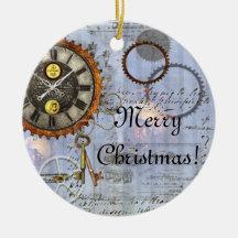 Ornamento del navidad del reloj de Steampunk Ornamento Para Reyes Magos