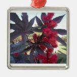 Ornamento del navidad del ricino adorno navideño cuadrado de metal