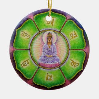 "Ornamento del navidad del ronquido de Kuan Yin ""OM Ornato"