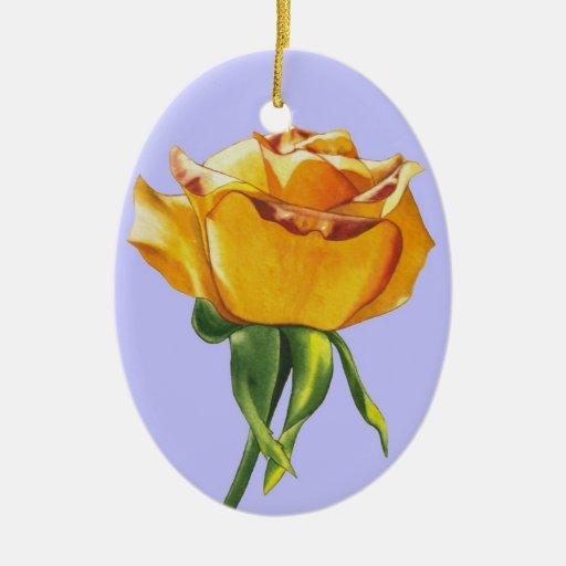 Ornamento del navidad del rosa amarillo ornamento para arbol de navidad