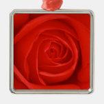 Ornamento del navidad del rosa rojo adornos