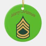 Ornamento del navidad del sargento de ejército ornato