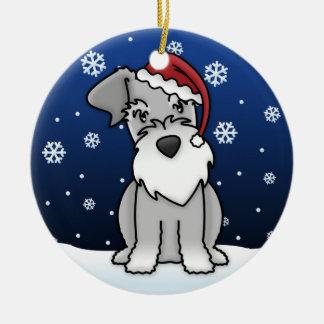 Ornamento del navidad del Schnauzer del dibujo ani Ornamentos Para Reyes Magos