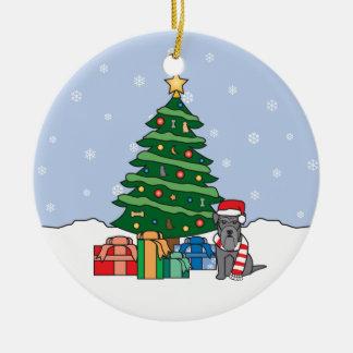 Ornamento del navidad del Schnauzer miniatura Adornos