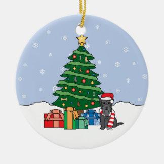 Ornamento del navidad del Schnauzer miniatura Adorno De Navidad