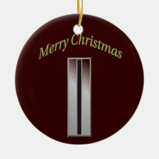 Ornamento del navidad del suboficial mayor 5 del j ornamento de navidad