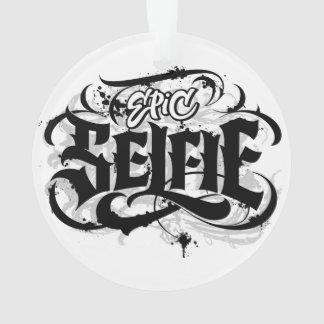 Ornamento del navidad del tatuaje de las letras de