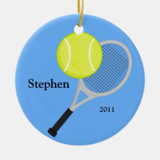 Ornamento del navidad del tenis ornamentos de navidad