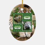 Ornamento del navidad del tigre de Bengala Ornamento De Navidad