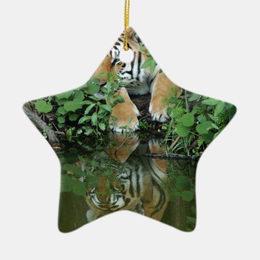 Ornamento del navidad del tigre de Bengala Ornamentos Para Reyes Magos