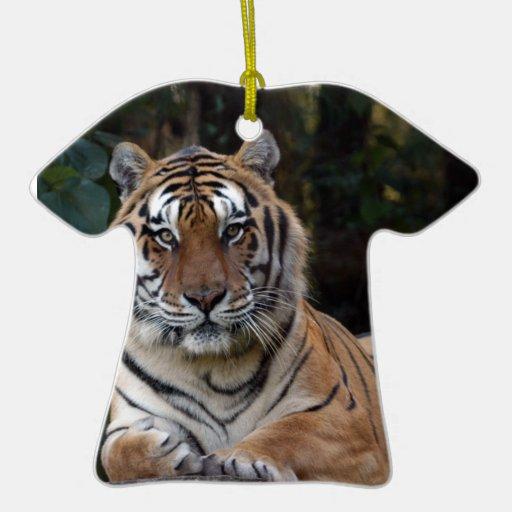 Ornamento del navidad del tigre de Bengala Adorno De Cerámica En Forma De Playera