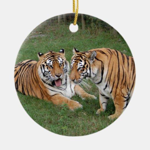 Ornamento del navidad del tigre de Bengala Adornos De Navidad