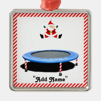 ornamento del navidad del trampolín adorno navideño cuadrado de metal