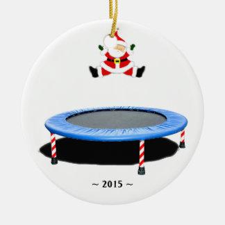 ornamento del navidad del trampolín adorno navideño redondo de cerámica
