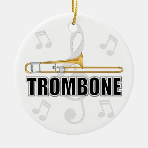 Ornamento del navidad del Trombone Adorno Navideño Redondo De Cerámica