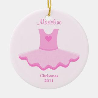 Ornamento del navidad del tutú del ballet adorno