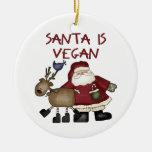 Ornamento del navidad del vegano adorno