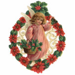 Ornamento del navidad del Victorian Adorno Fotoescultura