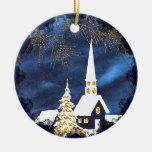 Ornamento del navidad del vintage de la iglesia ornatos