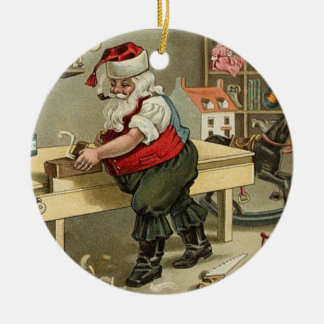 ornamento del navidad del vintage de santa adorno de navidad