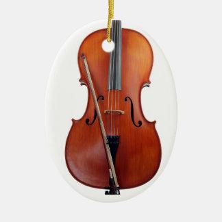 Ornamento del navidad del violoncelo adorno