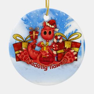 Ornamento del navidad Galés - dragón Galés