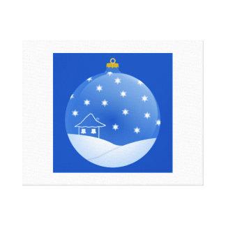 Ornamento del navidad impresion de lienzo