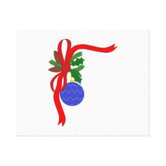 Ornamento del navidad impresión en lienzo estirada