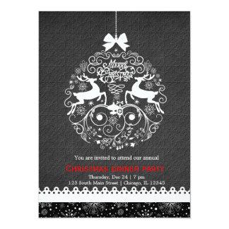 """Ornamento del navidad invitación 5.5"""" x 7.5"""""""