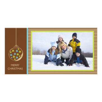 Ornamento del navidad - photocard del navidad tarjeta con foto personalizada