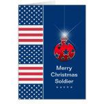 Ornamento del navidad - soldado militar - los E.E. Felicitacion