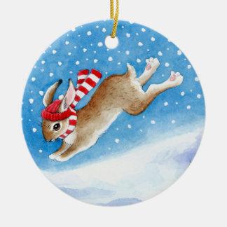 Ornamento del navidad y del invierno del conejito  adorno